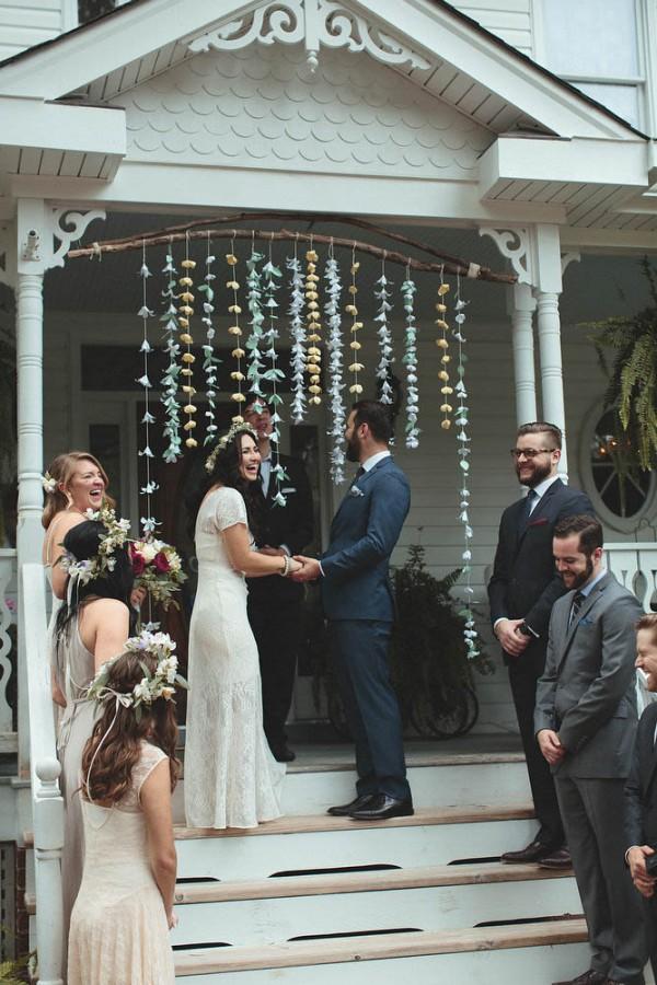 Beautiful Backyard Wedding In Richmond Va Junebug Weddings