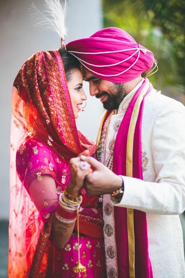 Fuchsia And Orange Wedding In India Junebug Weddings
