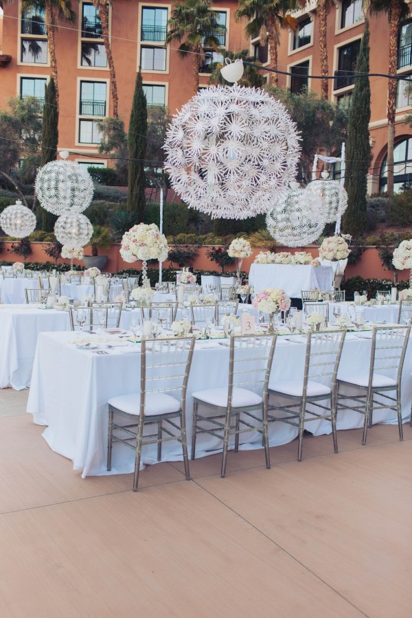 White and Ivory Wedding at The Westin Lake Las Vegas | Junebug Weddings