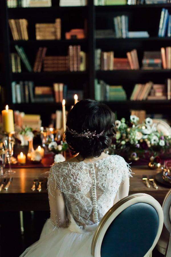 View More: http://laurenmiller.pass.us/lauren-miller-vintage-library-once-wed