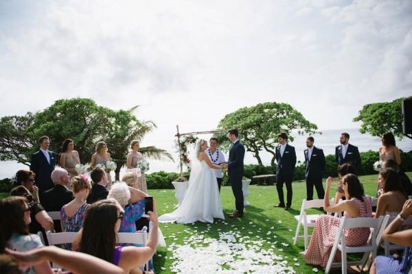 Hawaiian Destination Wedding At Turtle Bay Resort Derek