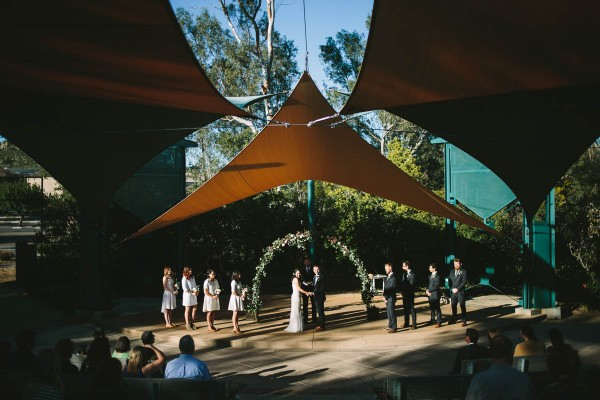 naturally glam wedding at the water conservation garden - Water Conservation Garden