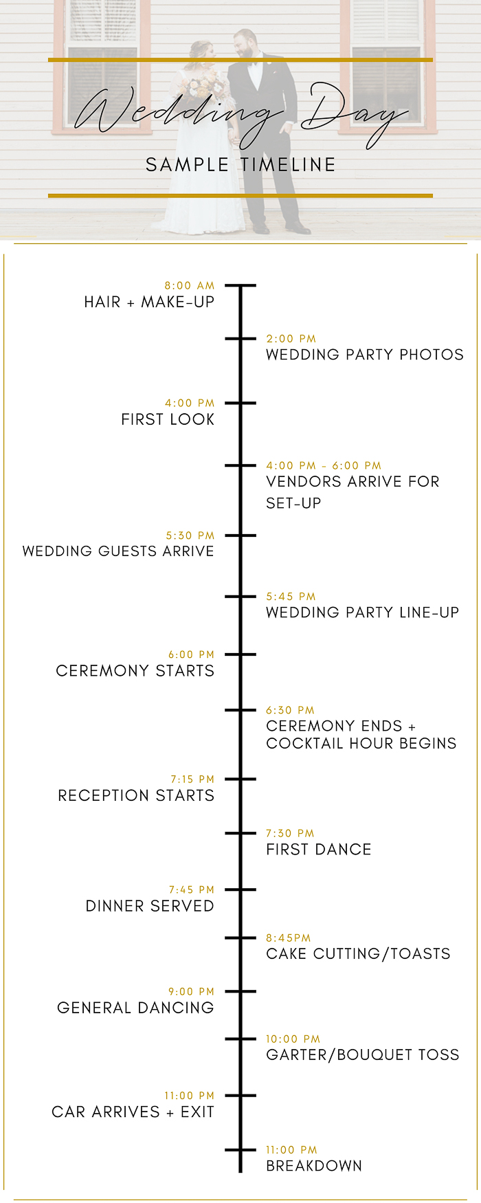 How To Create The Perfect Wedding Day Timeline Junebug Weddings