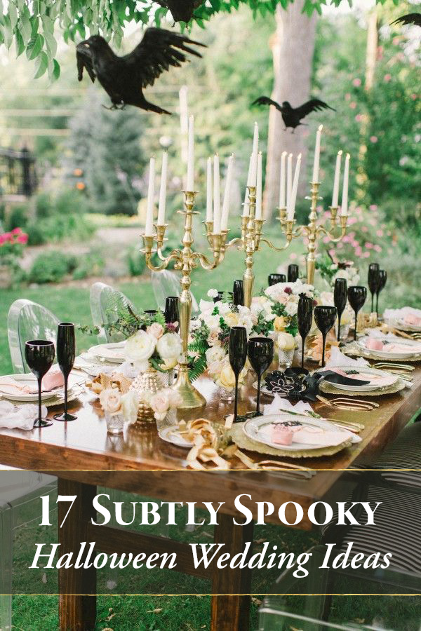 17 subtly spooky halloween wedding ideas