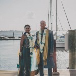 Blue and Gold Hindu Wedding at Riverhouse