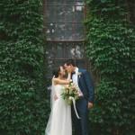 Peach and Green Wedding at Caffino Ristorante