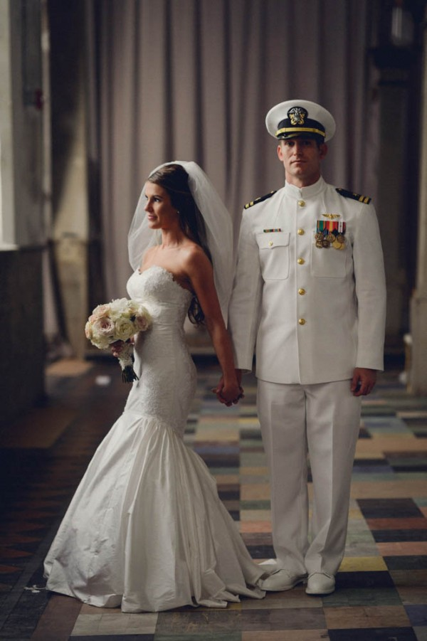 Southern military wedding at marigny opera house junebug for Free wedding dresses for military brides