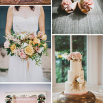 Romantic Blush, Ivory, and Gold Wedding Palette Inspiration