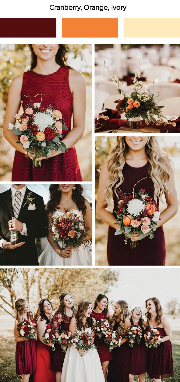 7 fall wedding color palette ideas junebug weddings for Fall wedding dress colors