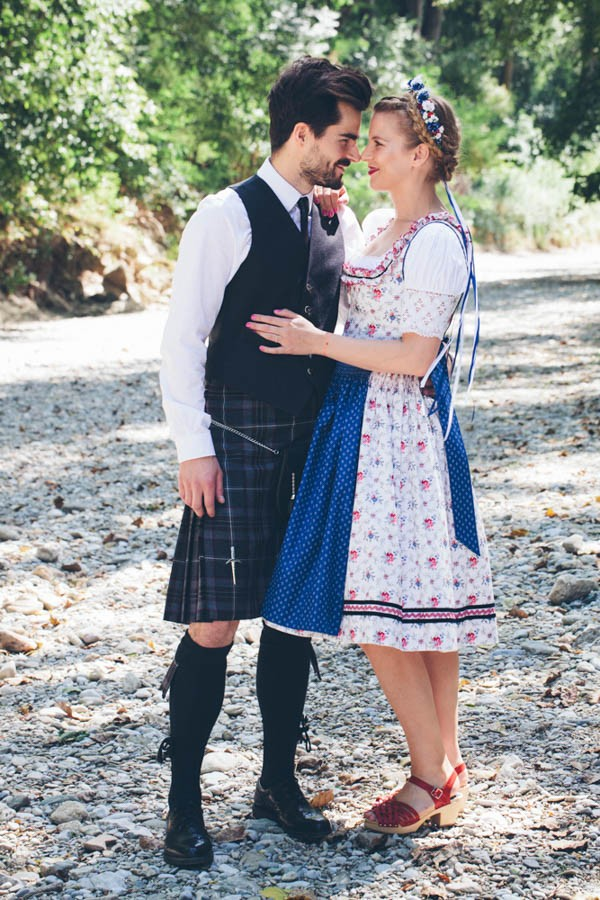 Scottish Inspired Austrian Wedding | Junebug Weddings