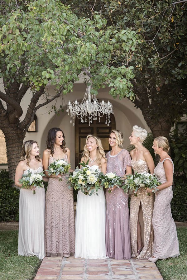 Sophisticated Gold And Sage Green Wedding In California
