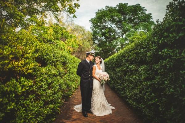Charlotte Military Wedding At Daniel Stowe Botanical Garden | Junebug  Weddings