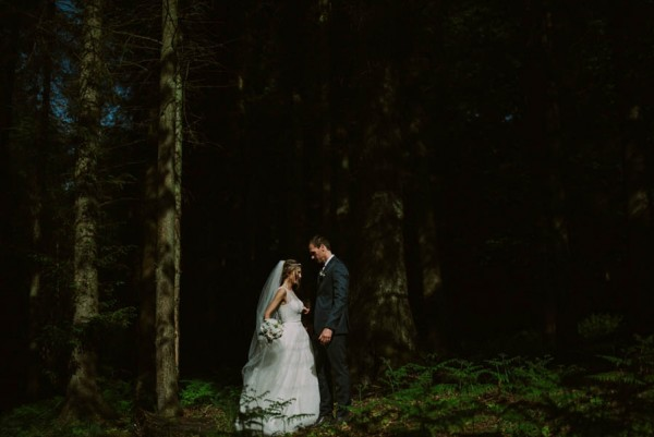 Intimate scottish wedding