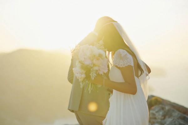 Romantic Island Wedding in Folegandros, Greece  Junebug ...