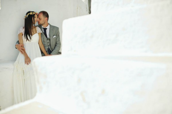 Folegandros wedding dress