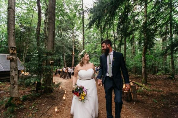 Amy & Joel _ DIY Backyard Forest Wedding-81