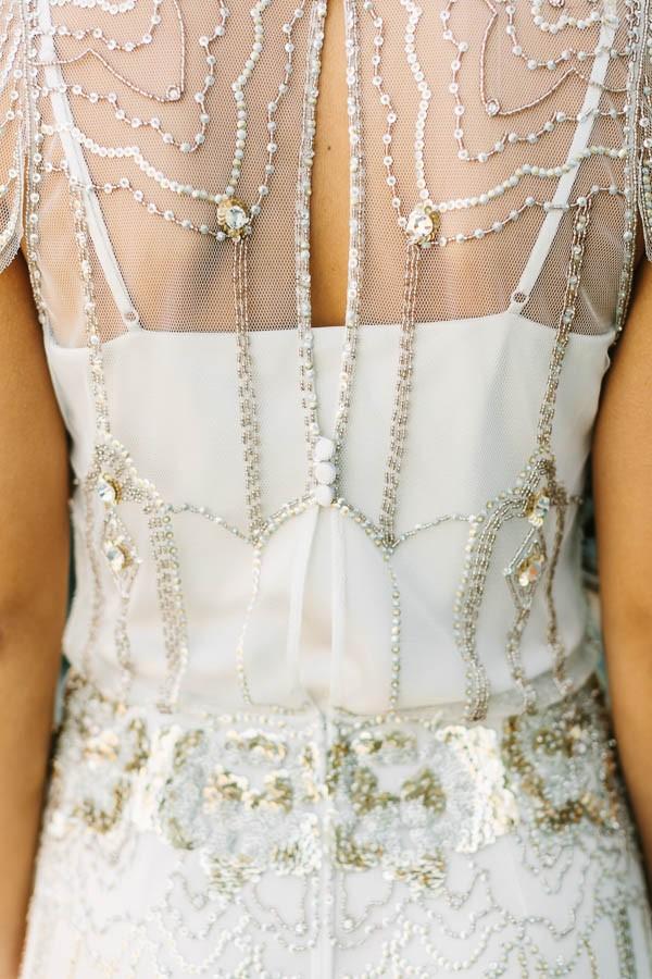 Black white metallic wedding dresses