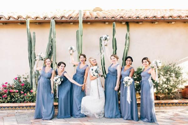 dusty blue and gold malibu wedding at rancho chiquita junebug weddings