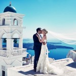 Elegant Santorini Wedding at Theros Wave Bar