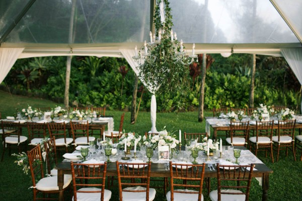 Stylish Hawaiian Wedding White Orchid Beach House 15
