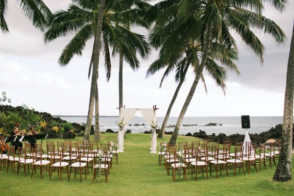 Stylish Hawaiian Wedding White Orchid Beach House 8