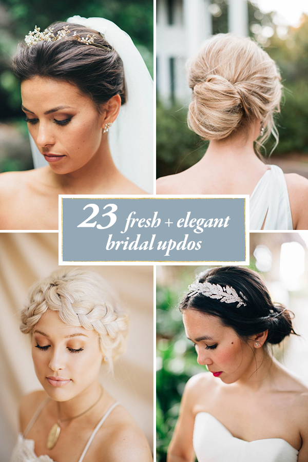 23 Fresh and Elegant Bridal Updos | Junebug Weddings
