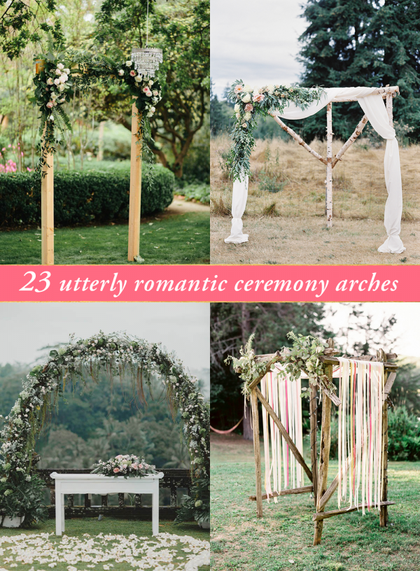 romantic ceremony arches