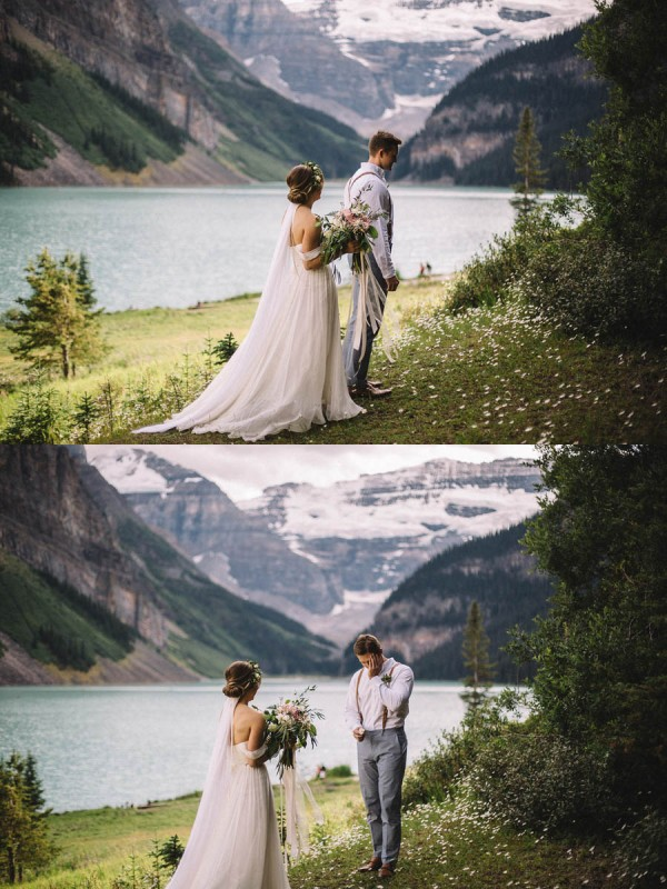 Breathtaking-Canadian-Elopement-at-Lake-Louise-First-Look
