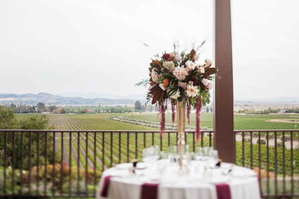 Champagne Burgundy Wine Country Wedding Gloria Ferrer Caves