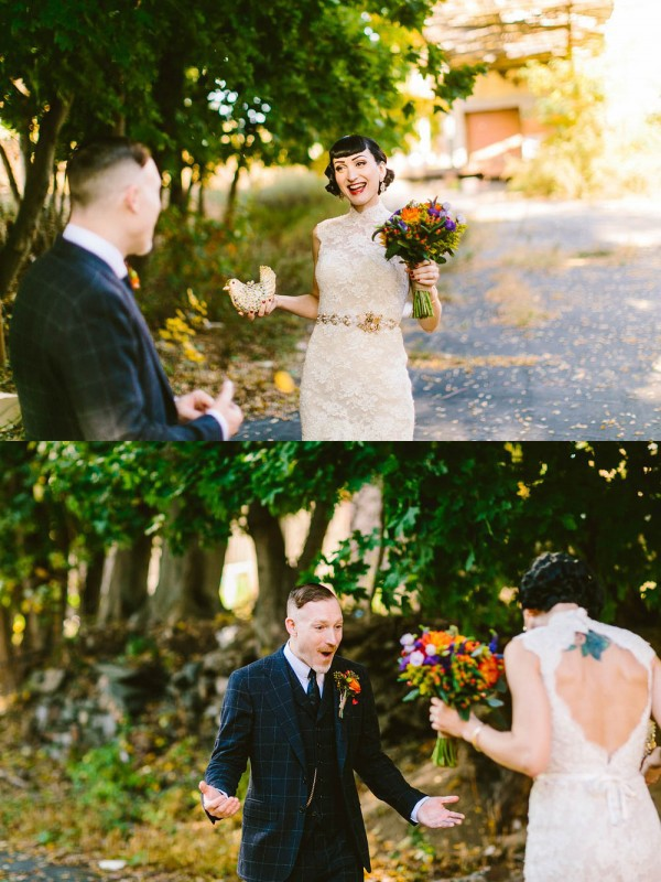 Glam-Vintage-Wedding-at-The-Roundhouse-at-Beacon-Falls-First-Look