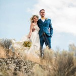 A Blue, Yellow, and Boldly Romantic Rustic Horse Ranch Wedding in Ashcroft