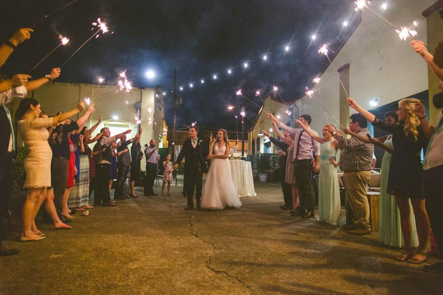 Mint And Orange Vintage Florida Wedding At Artisan Alley Garage