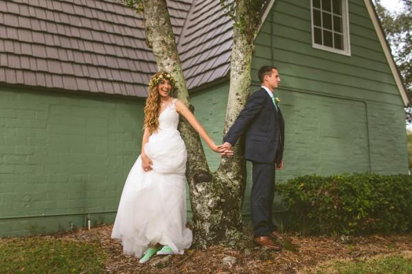 Vintage Wedding Dresses Florida: Mint And Orange Vintage Florida Wedding At Artisan Alley