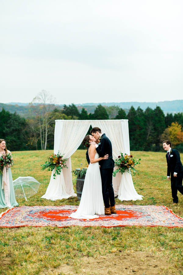 Modern Rustic Red And Sage Green Wedding At Castleton