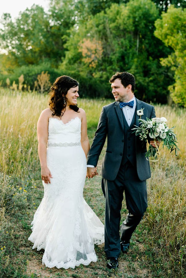 Navy and Gold Barn Wedding in Denver