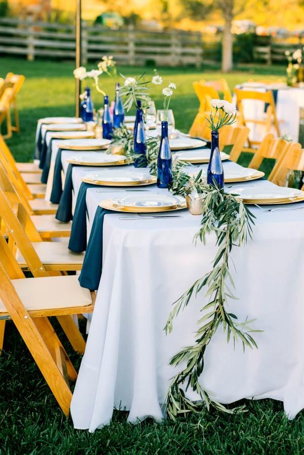 navy and gold barn wedding in denver junebug weddings