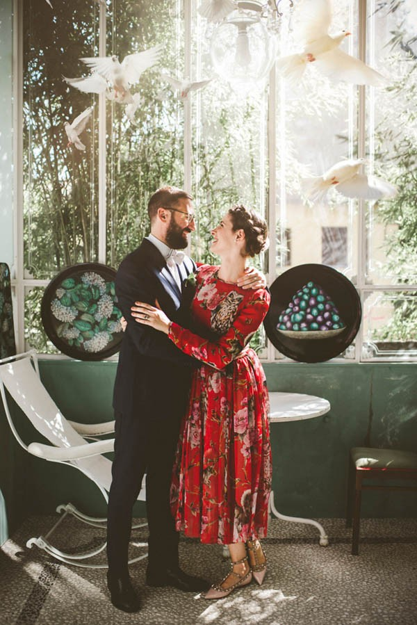 Forget White This Bride Wore A Red Dolce Gabbana Dress To Her Milan Wedding Junebug Weddings