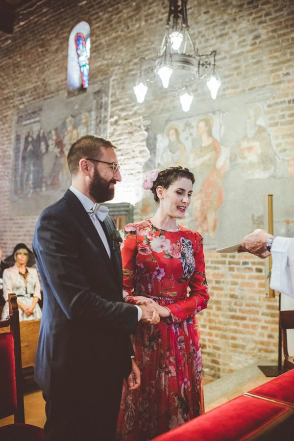 Forget White This Bride Wore A Red Dolce Gabbana Dress To Her