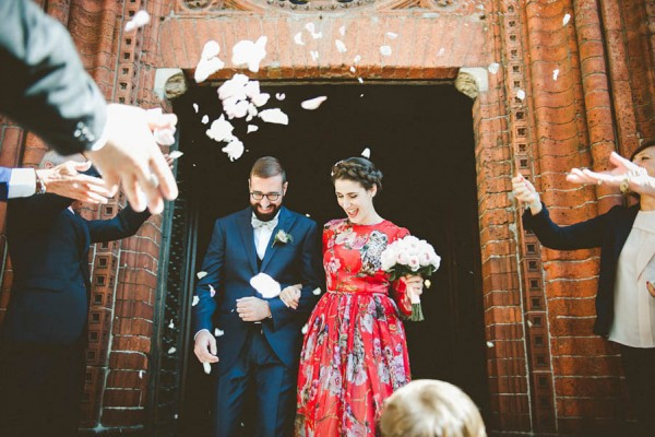 Red Dolce Gabbana Gown Milan Wedding Serena Cevenini