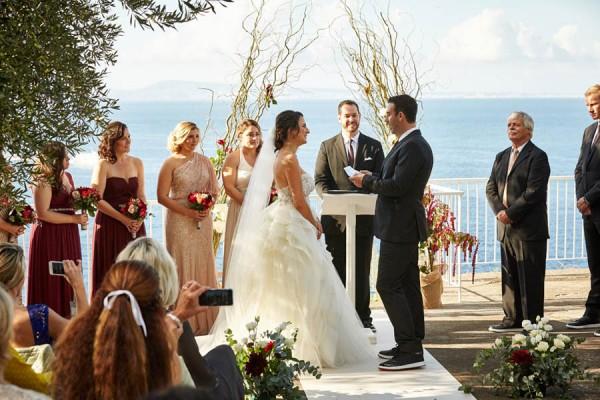 Rose Gold and Burgundy Italian Wedding at Villa Silvana   Junebug ...