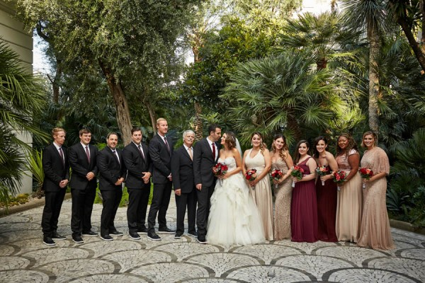 Rose Gold And Burgundy Italian Wedding At Villa Silvana Junebug Weddings