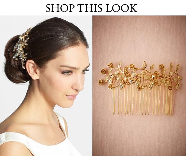 gold statement hairpiece