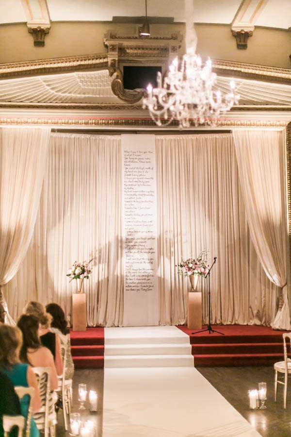 wedding blog blush metallic chicago stan mansion