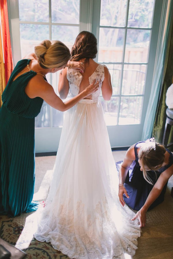 This California Bride Had Her Mother's Gown Altered Into A