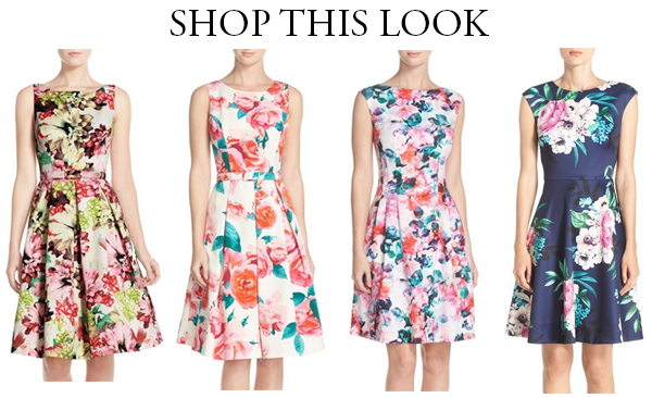 Eliza J floral fit and flare dresses