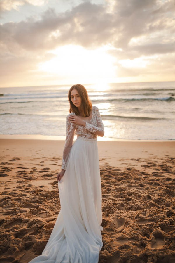 Sunset Wedding Shoot At Manly Beach In Sydney Junebug