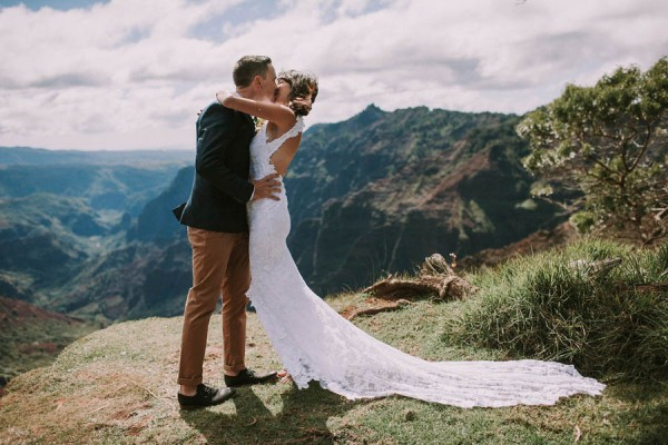 This Jaw Dropping Waimea Canyon Wedding Hawaii Like