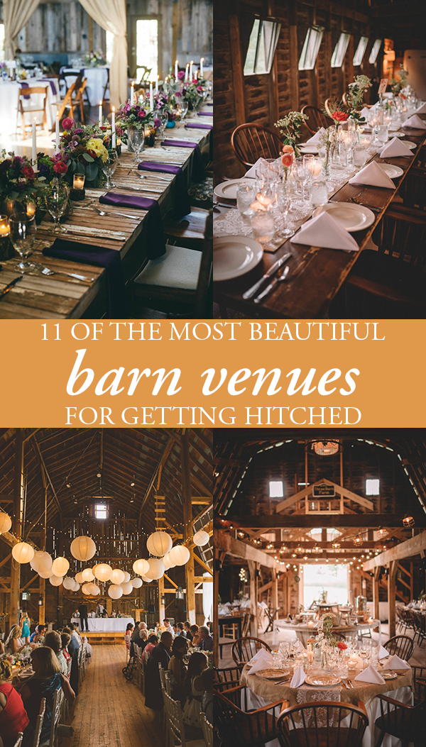 11 of the most beautiful barn venues for getting hitched | junebug