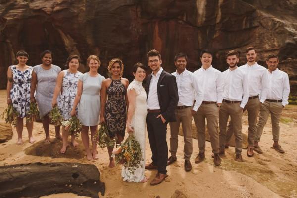 Vintage Beach Wedding Ceremony: Bondi Beach Wedding With Vintage Australian Vibes