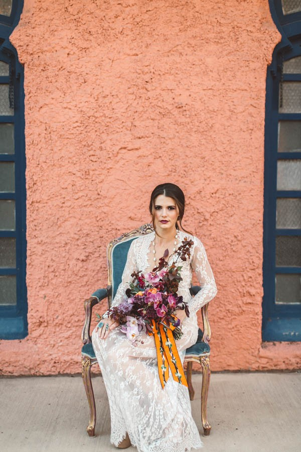 Between The Muted Desert Palette Leather Accents And A Gorgeous Barely There Wedding Dress We Can T Get Enough Of This Edgy Sante Fe Bridal Shoot